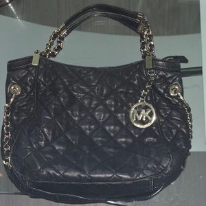Michael Kors quilted black purse